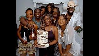 Dbanj Parties With Genevieve On Her 40th Birthday