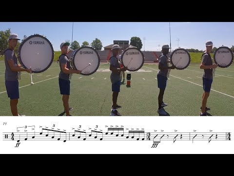 2017 Carolina Crown Basses - LEARN THE MUSIC to