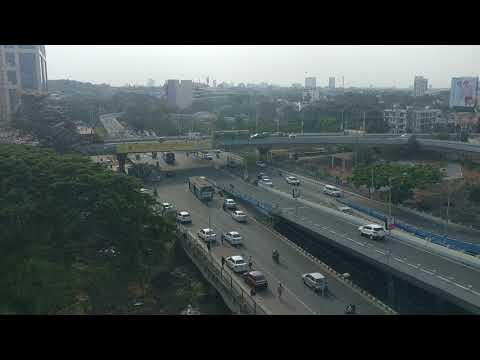 Domlur flyover from Diamond District Block D