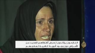 نازحو مخيمات شرقي الموصل يشتكون نقص الدعم