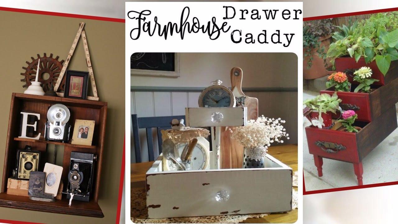 Fabulous Repurposed Drawer Projects Diy Repurposed Old