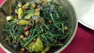 Taste of Assam/ Assamese Cuisine - Dhekhia Bhaji ( Fiddlehead Fern Fry)
