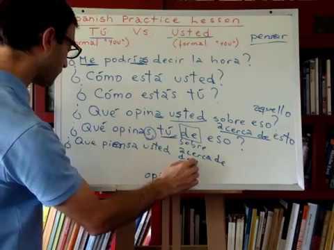 Free Spanish Lessons 213: Spanish practice lesson (2/2)