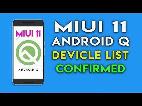 MIUI 11 ANDROID Q UPDATE DEVICE LIST | No Android Q For Redmi Note 5 Pro