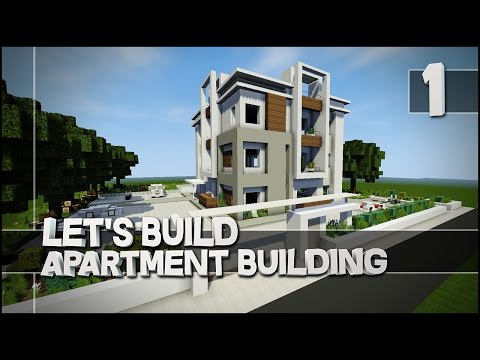 Minecraft - Let's Build : Modern Apartment Building - Part 1 (Easy Tutorial)