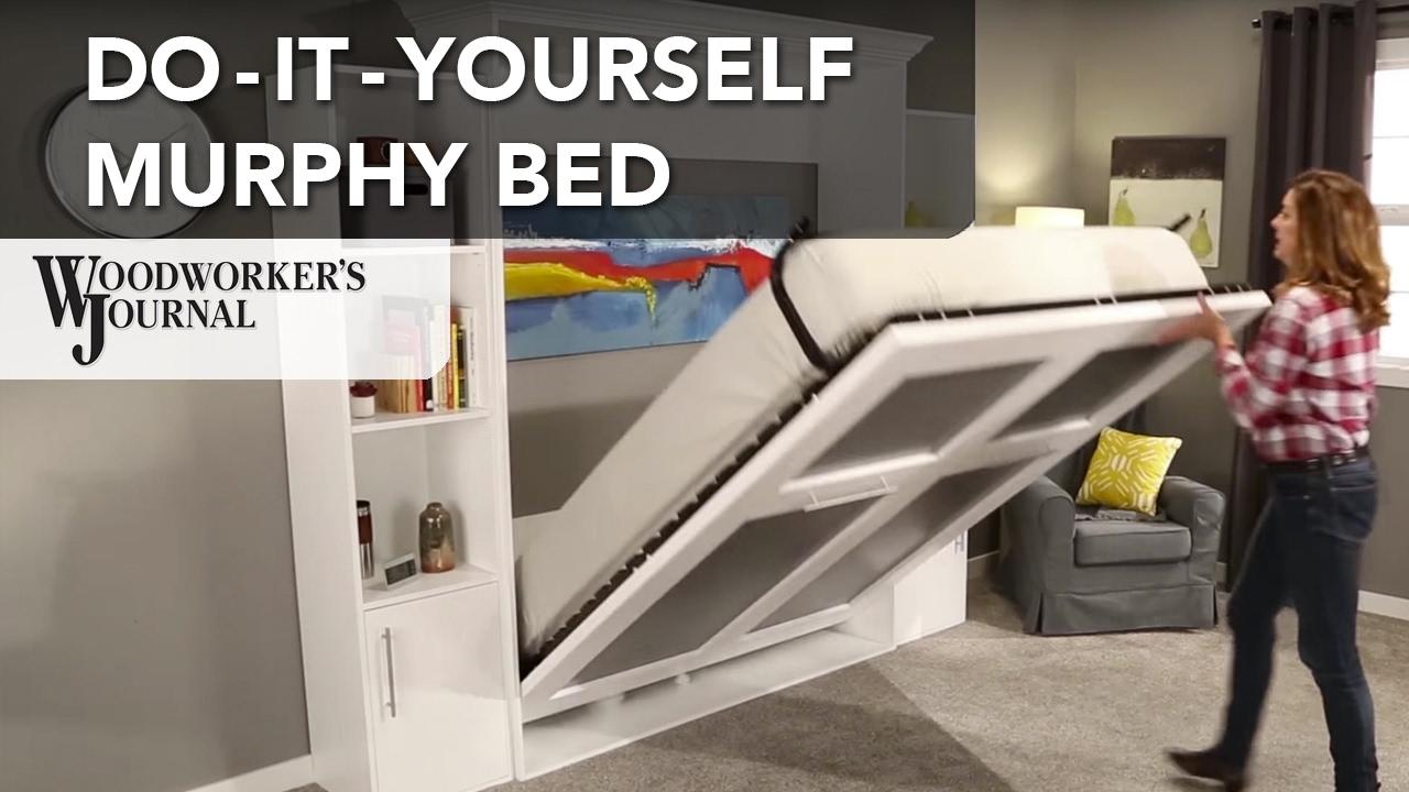 DoItYourself Murphy Bed  YouTube