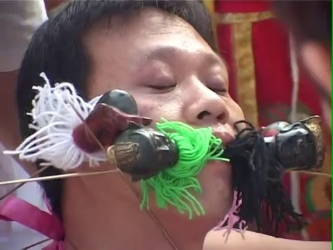 VEGETARIAN FESTIVAL, CULTURE, RELIGION, DOCUMENTARY. PHUKET, THAILAND