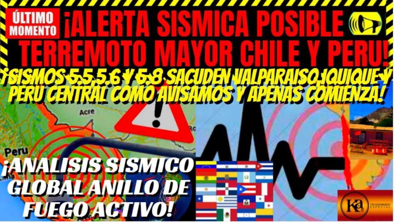 ¡🚨URGENTE SISMOS EN CHILE Y PERU ALERTA SISMICA ELEVADA POSIBLE TERREMOTO!¡ATENTOS ANALISIS GLOBAL!