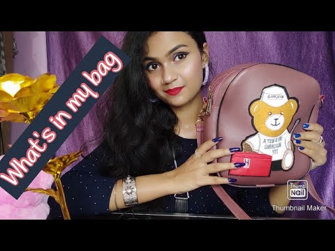 Thingsevery girl should carry in her bags part-1    3 IMPORTANT BAGS    college bag    school bag   