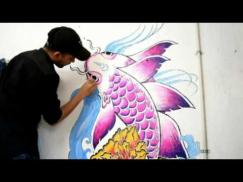 Koi Fish | Room Painting | Janmenjay Dandsena