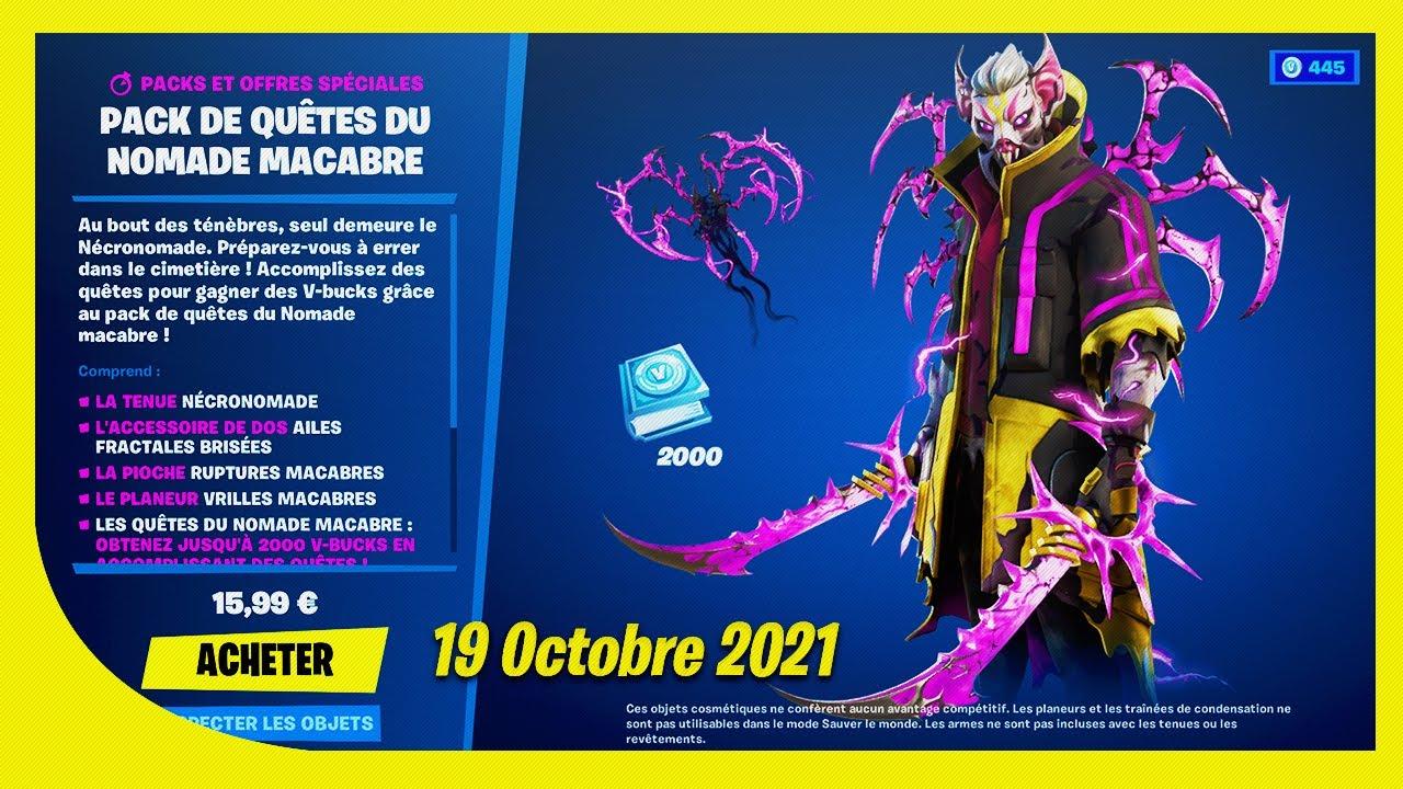 Download BOUTIQUE FORTNITE du 19 Octobre 2021 ! NOMADE VAMPIRE