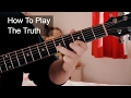 watch he video of 'The Truth' Prince Acoustic Blues Tutorial