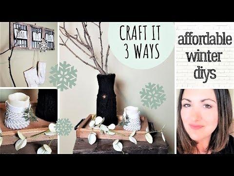 Dollar Tree WINTER DIYs _ Sweater Covered Vase _  Craft It 3 Ways SERIES _ SWEATER WEATHER DIYs
