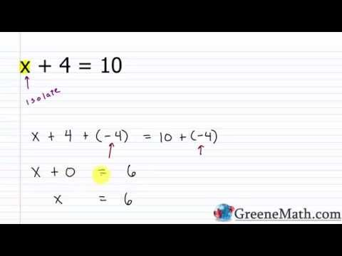 Algebra I Lesson 3: Addition Property of Equality