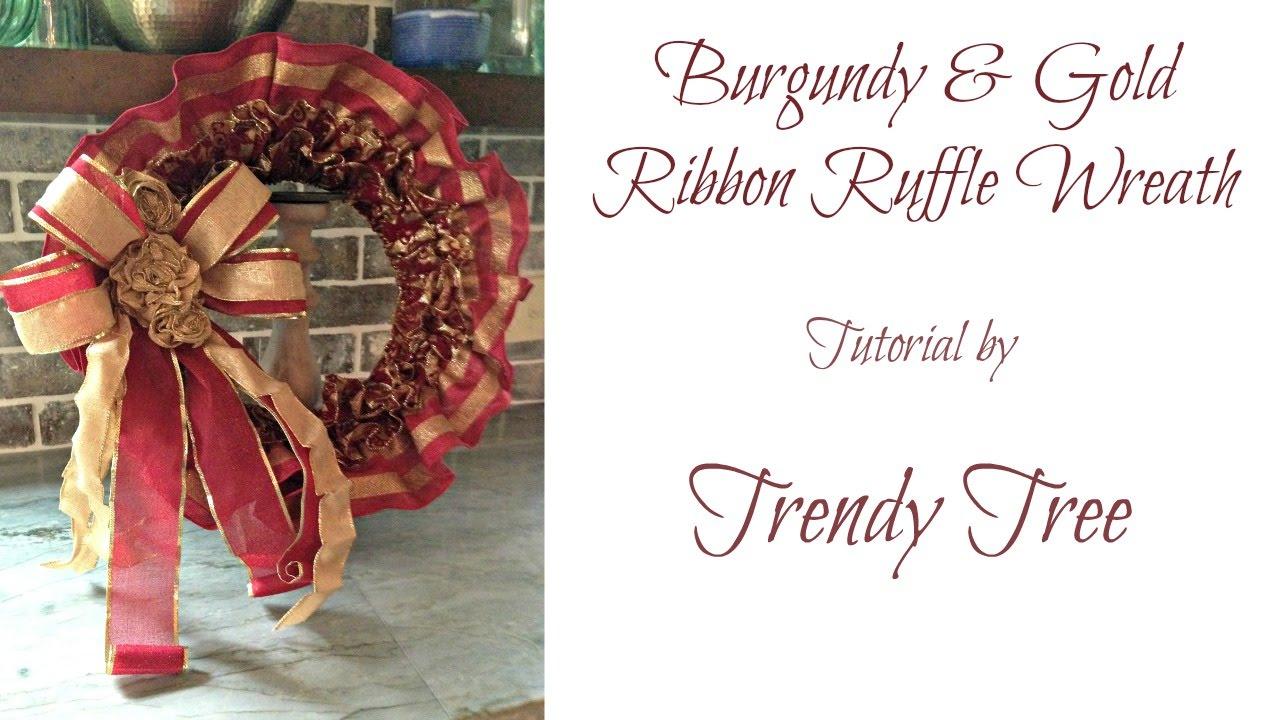 Ruffled Ribbon Wreath Tutorial - YouTube