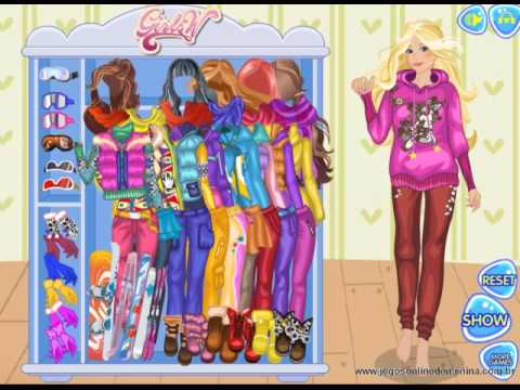 jogo vestir barbie para esquiar youtube