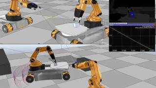 Robot Simulator: KUKA YouBot in V-REP (High res version)