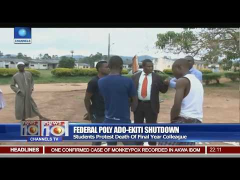 Federal Poly Ado-Ekiti Shutdown: Student Protest Death Of Final Year Colleague