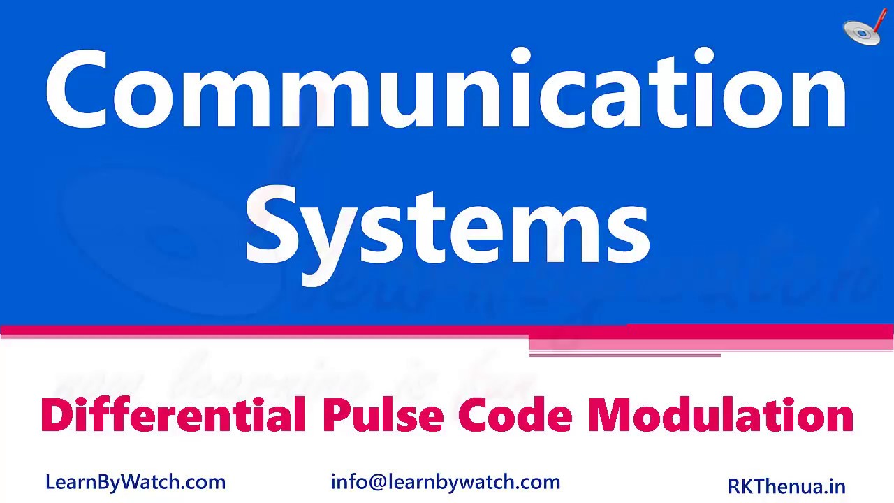 Differential Pulse Code Modulation (DPCM) - Learn By Watch