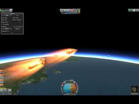 Kerbal Space Program. Jet engine rocket orbiting.