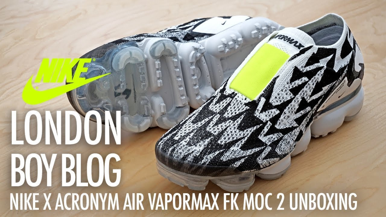 online store be480 b8694 Nike X ACRONYM AIR VAPORMAX FK MOC 2 Unboxing