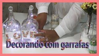 Como reutilizar garrafas de vidros na decoração – Faça você mesmo abajur com garrafa