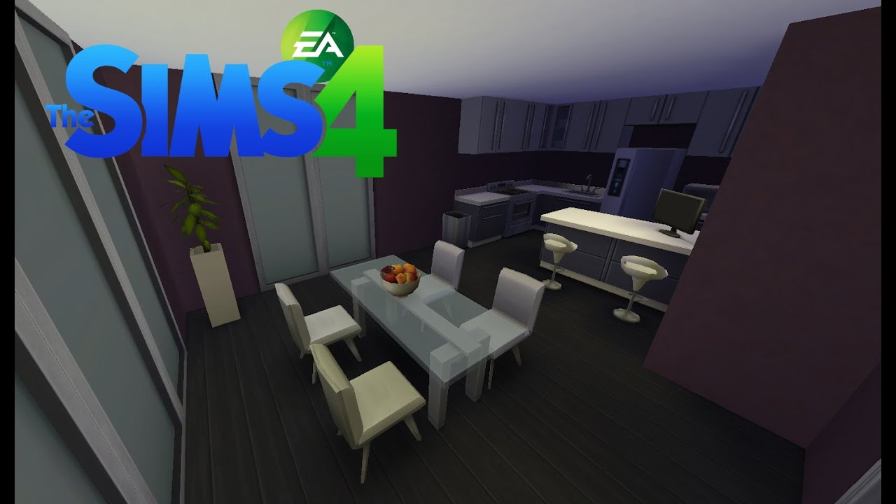 les sims 4 construction d 39 une cuisine simple et moderne youtube. Black Bedroom Furniture Sets. Home Design Ideas