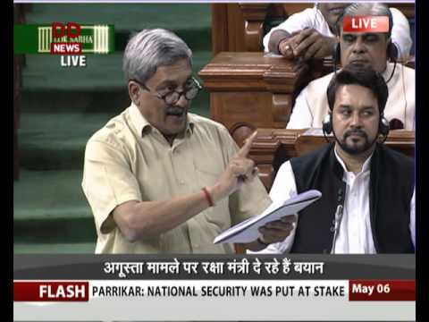 Defence Minister's Speech on Agusta Westland Scam in Lok Sab