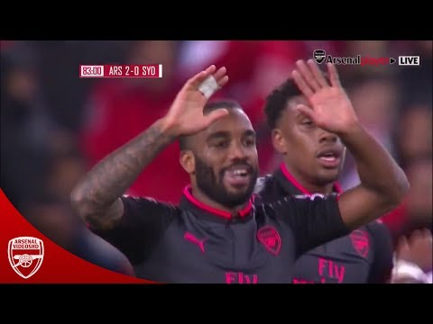 Alexandre Lacazette vs Sydney (Debut Goal for Arsenal) 720p HD