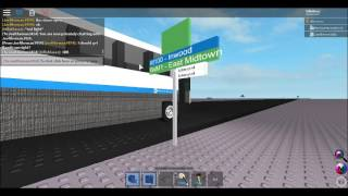 (Roblox) East Midtown bound 2002 MCI D4500 #2906 on the BxM1, Inwood bound 2009 NG #4392 on the M100