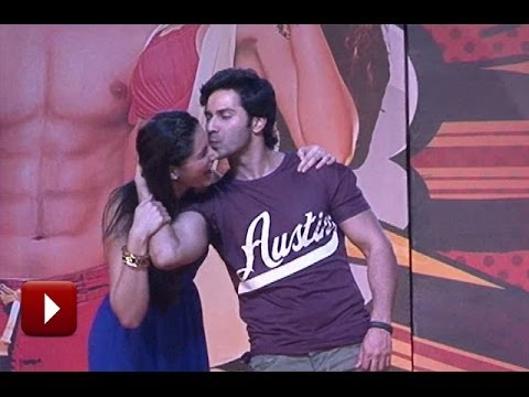 Varun Dhawan KISS Nargis Fakhri on Music Launch of Film Main Tera Hero
