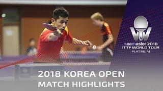Zhang Jike vs Harmeet Desai | 2018 Korea Open Highlights (Group)