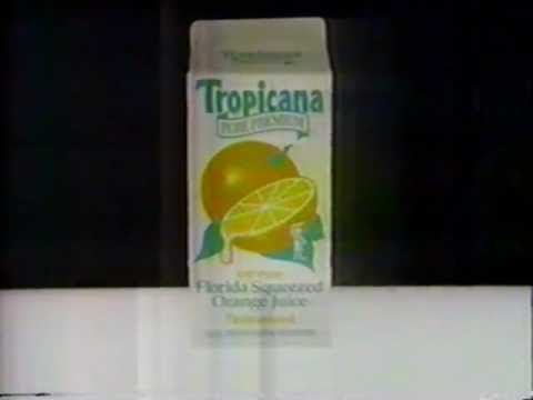 1989 Tropicana orange juice commercial