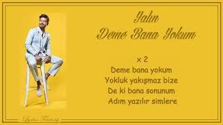 Yalın - Deme Bana Yokum / Şarkı Sözleri (Lyrics) Resimi