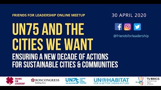 FFL Online Meetup: UN75 and the Cities We Want