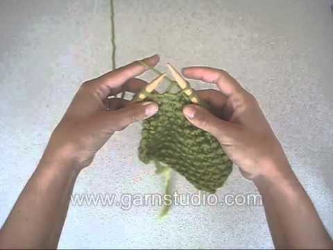 Học cách đan khăn len kiểu hạt gạo