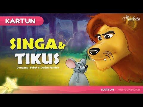 Singa Dan Tikus | Kartun Anak - Dongeng Bahasa Indonesia