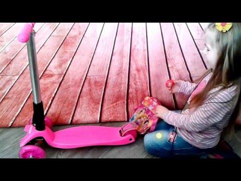 Обзор и распаковка детского самоката Scooter Maxi складной | overview unpack of kids Scooter Maxi