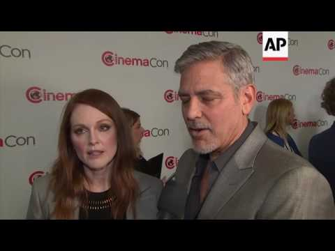 At CinemaCon, George Clooney And Julianne Moore Preview 'Suburbicon' And Make Fun Of Underdressed Co