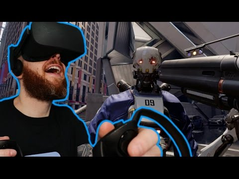 TOTAL RECALL!! RoboRecall Oculus Rift & Oculus Touch Gameplay - Virtual Reality