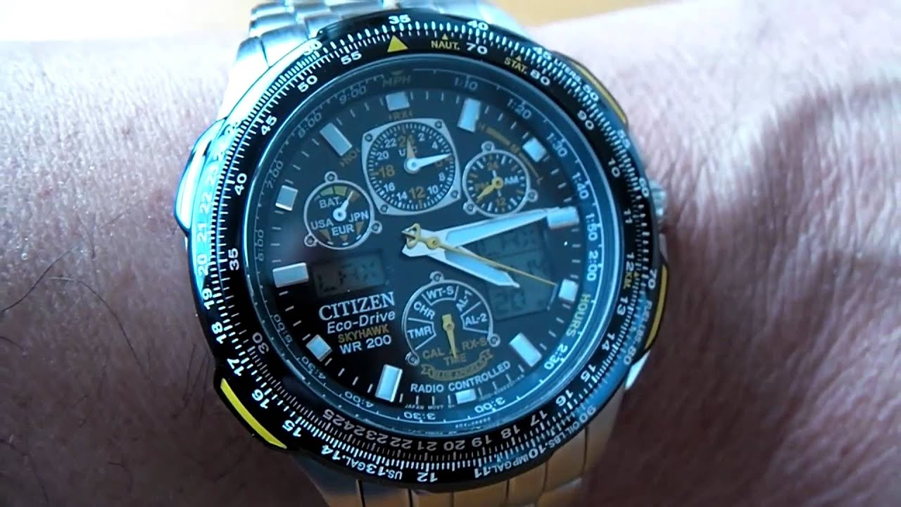 "Citizen Eco-Drive Skyhawk A-T ""Blue Angels"" Watch, SUPER ..."