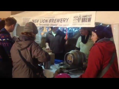 New Lion Brewery at the Totnes Christmas Market.