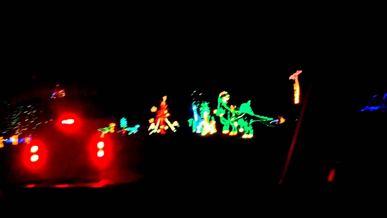 vasona park Christmas light show - YouTube
