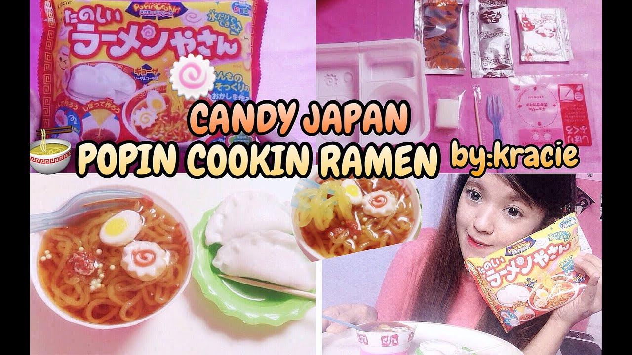 POPIN COOKIN RAMEN by KRACIE - DIY CANDY KIT JAPAN REVIEW ...