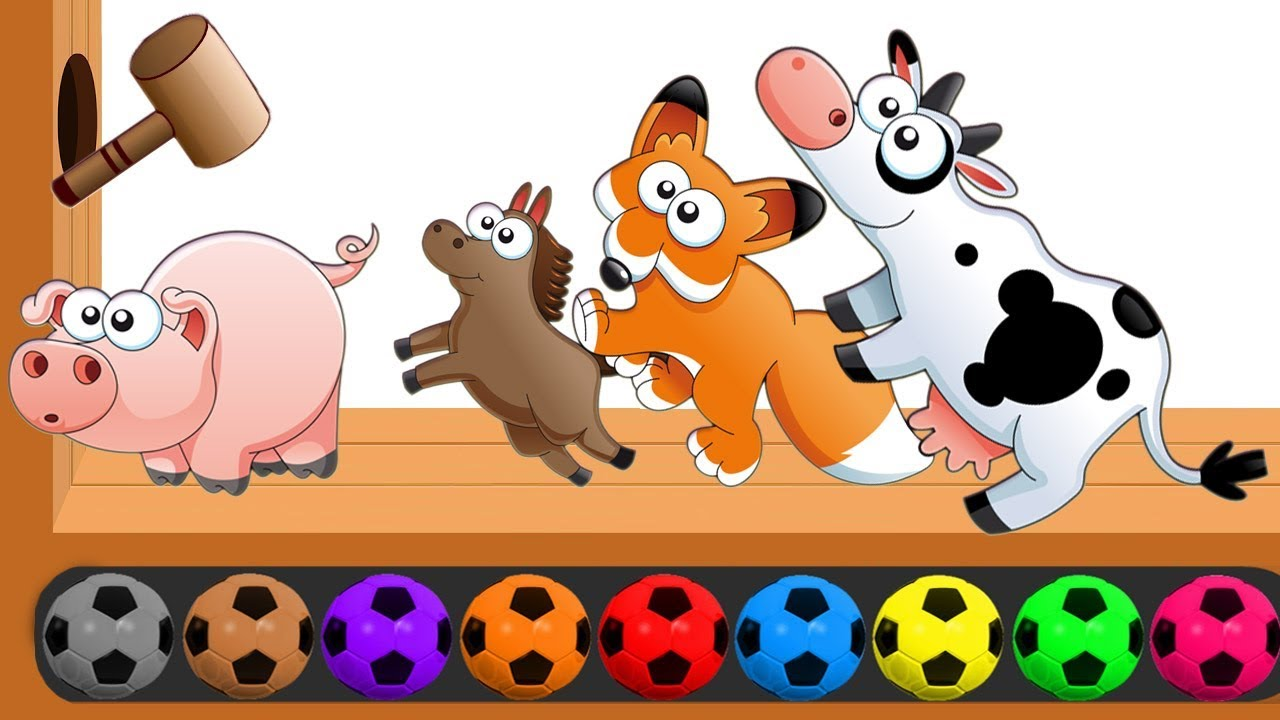 Kids playing with farm animals in field - Download Free Vectors, Clipart  Graphics & Vector Art