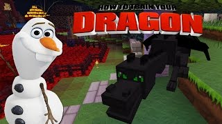 Minecraft - HOW TO TRAIN YOUR DRAGON - Toothless meets Olaf [35]