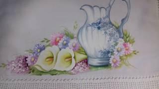 Pintura em Tecido – Aprenda Pintar Jarra Porcelanizada