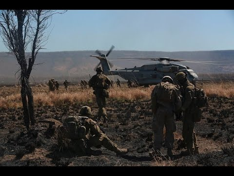 Heliborne Assault with RAR and USMC (documentary)