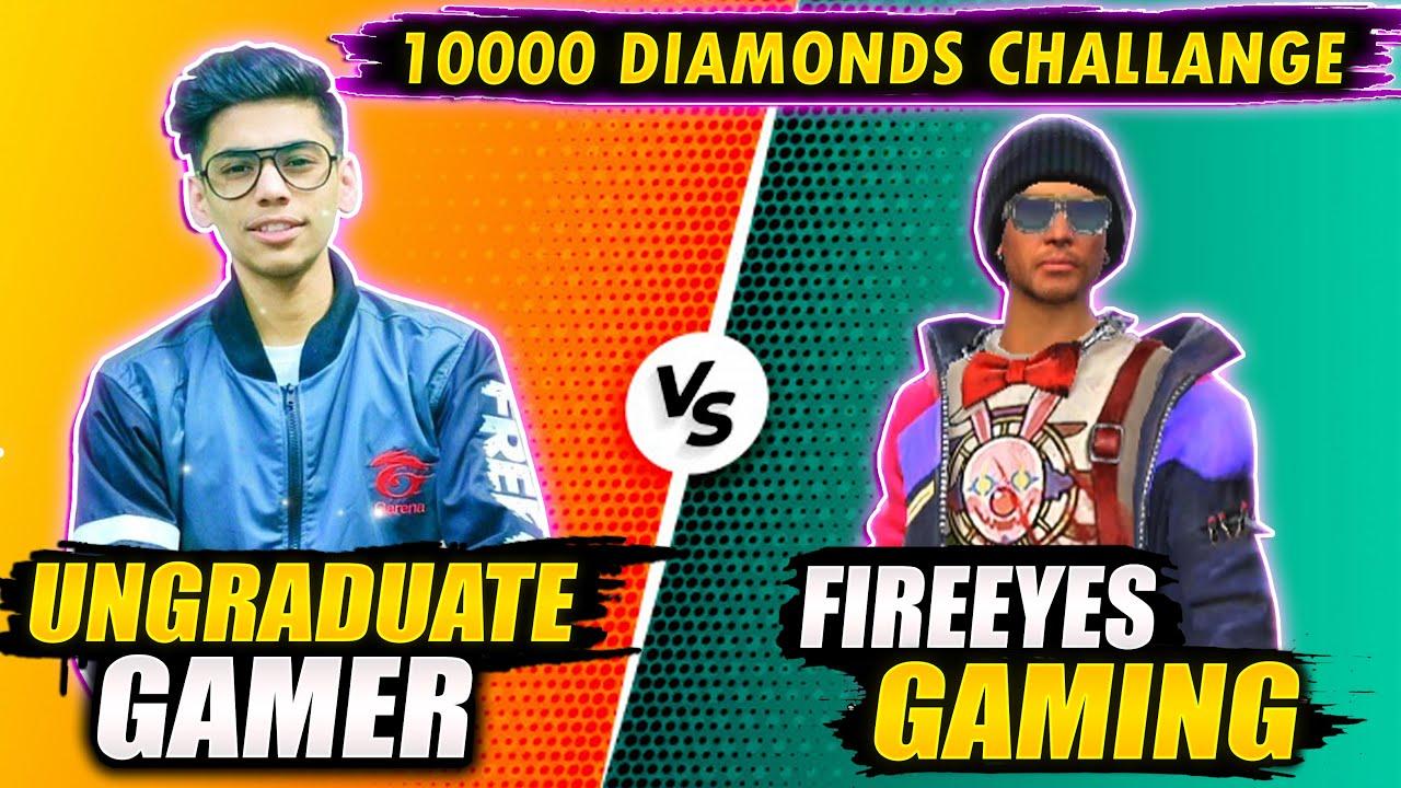 Ungraduate Gamer VS FireEyes Gaming - Garena Free Fire - 24kGoldn - Mood ❤️ ( FreeFire Highlights )