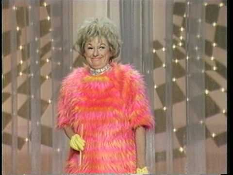 Phyllis Diller and her bird legs